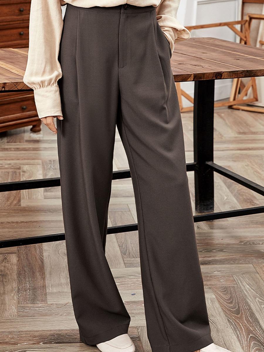 High Waist Wide-leg Office Dress Pants